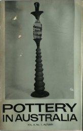 Pottery In Australia Vol 8 No 1 Autumn 1969