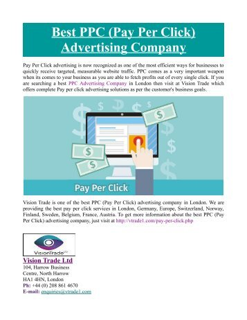 Best PPC (Pay Per Click) Advertising Company