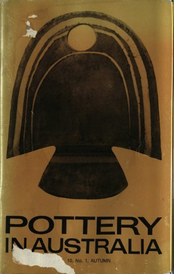 Pottery In Australia Vol 10 No 1 Autumnn 1971