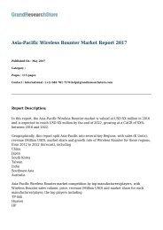 Asia-Pacific Wireless Rounter Market Report 2017
