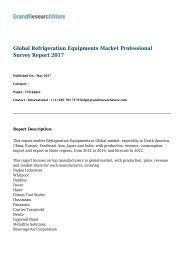 Global Refrigeration Equipments Market Professional Survey Report 2017