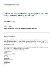 Global Metal Organic Chemical Vapor Deposition (MOCVD) Market Professional Survey Report 2017