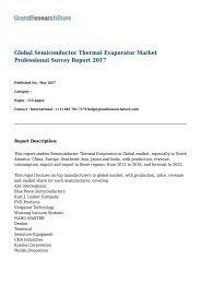 Global Semiconductor Thermal Evaporator Market Professional Survey Report 2017