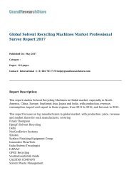 Global Solvent Recycling Machines Market Professional Survey Report 2017