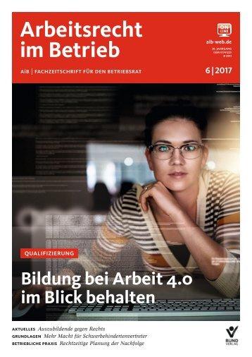 Leseprobe Arbeitsrecht im Betrieb 06_2017