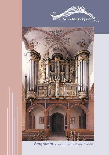 Eifeler Musikfest Programm 2017