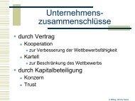 Unternehmenszusammenschlüsse - schule.at