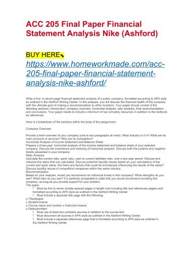 Financial statement essays