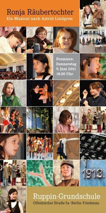 Flyer zum Musical - Ruppin-Grundschule