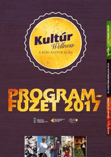 KultúrWellness programfüzet Bük 2017_2