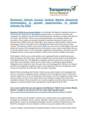 Biometric Vehicle Access System Market