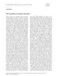 New guidelines for bipolar disorders - Medizin Akademie