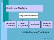 Risikopolitik von Versicherungen - schule.at