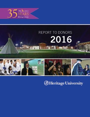 Report to Donors 2016