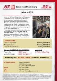 Sonderveröffentlichung belektro 2012 - Axel Springer MediaPilot