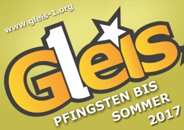 201703 Gleis 1 Programm Highlights