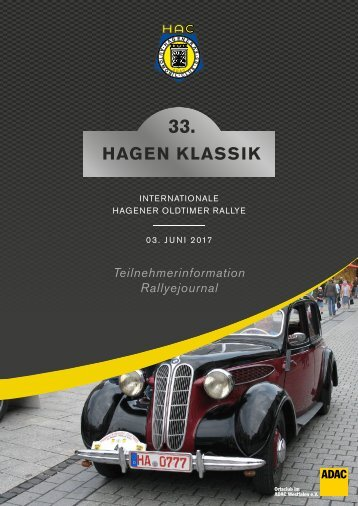 33. Hagen-Klassik - Oldtimerrrallye - Programm