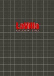LaVilla Menu Layout