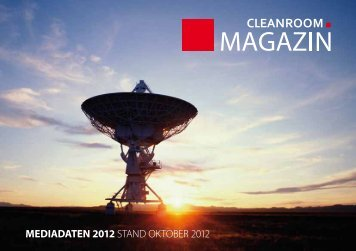 mediadaten 2012 - Cleanroom Media Magazin Online Publishing