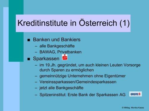 Funktionen der Kreditinstitute - schule.at
