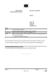 9057/11 MM/ag 1 DG I - 2B COUNCIL OF THE EUROPEAN UNION ...