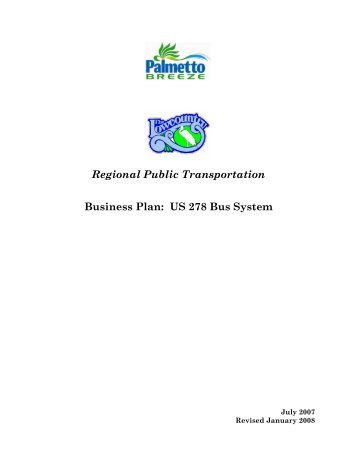 Regional Public Transportation Business Plan - Lowcountry Council ...
