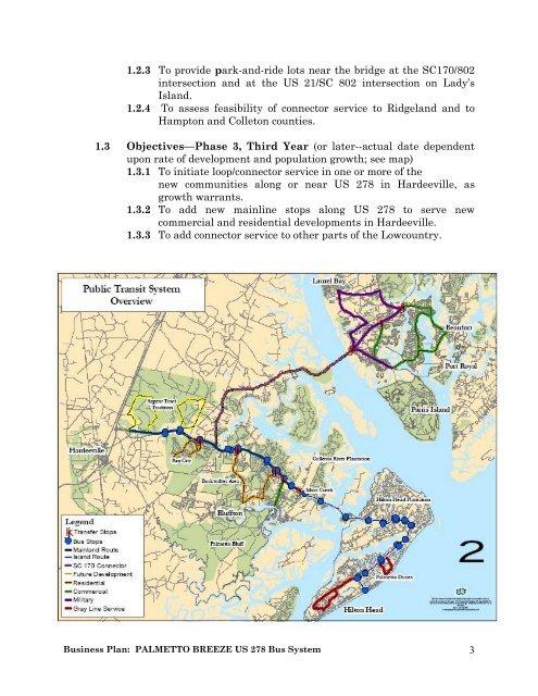 Regional Public Transportation Business Plan - Lowcountry Council ...