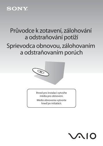Sony VPCEC2S1E - VPCEC2S1E Guide de dépannage Tchèque