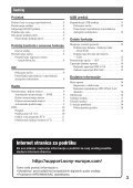 Sony CDX-GT33U - CDX-GT33U Mode d'emploi Serbe - Page 3