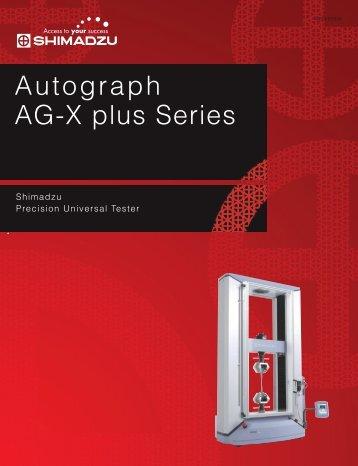 Autograph AG-X plus Series - Shimadzu Scientific Instruments