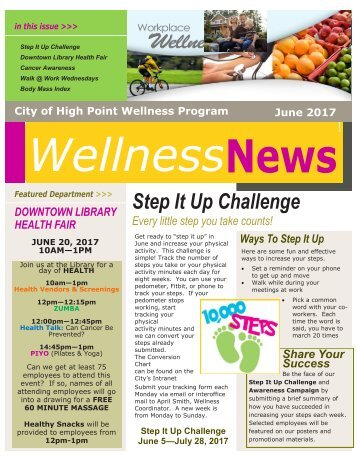 City Wellness Newsletter June 2017