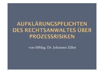 von MMag. Dr. Johannes Ziller