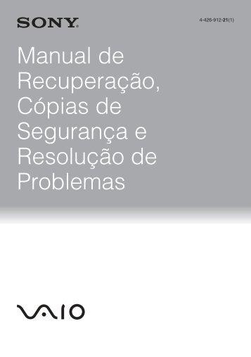 Sony SVE1111M1R - SVE1111M1R Guida alla risoluzione dei problemi Portoghese