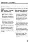 Sony SVE1111M1R - SVE1111M1R Guida alla risoluzione dei problemi Portoghese - Page 7