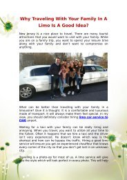 Why Traveling With Your Family In A Limo Is A Good Idea_