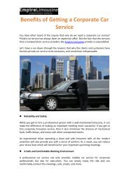 Benefits of Getting a Corporate Car Service