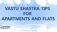 VASTU SHASTRA TIPS FOR APARTMENTS AND FLATS 2