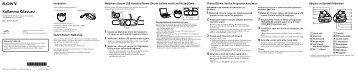 Sony NWZ-W273S - NWZ-W273S Guide de mise en route Turc