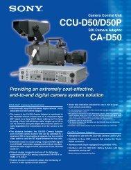 CCU-D50/D50P CA-D50 - ZTV Broadcast Services Inc.