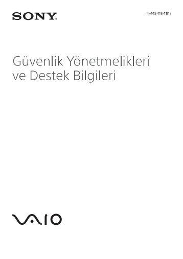 Sony SVE1712P1E - SVE1712P1E Documents de garantie Turc