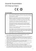 Sony SVE1712P1E - SVE1712P1E Documents de garantie Turc - Page 5