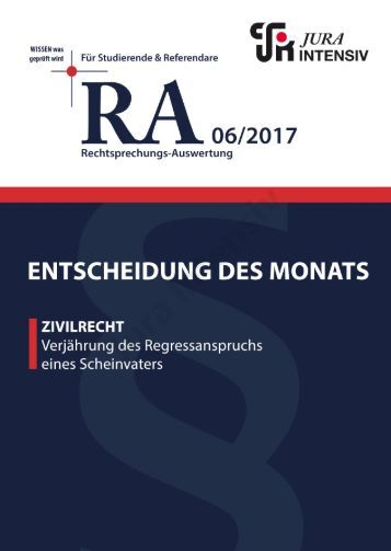 RA 06/2017 - Entscheidung des Monats