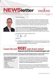 Göbel+Lenze Newsletter Ausgabe 01/2017