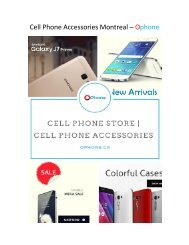 Cell Phone Accessories Montreal