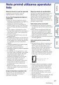 Sony MHS-TS20K - MHS-TS20K Istruzioni per l'uso Rumeno - Page 3
