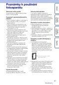 Sony MHS-TS20K - MHS-TS20K Istruzioni per l'uso Ceco - Page 3