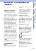Sony MHS-TS20K - MHS-TS20K Istruzioni per l'uso Francese - Page 3