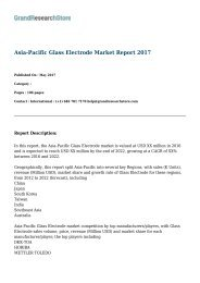 Asia-Pacific Glass Electrode Market Report 2017