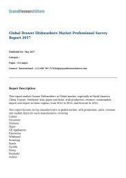 Global Drawer Dishwashers Market Professional Survey Report 2017