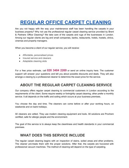 Brent And Partners Office Cleaning